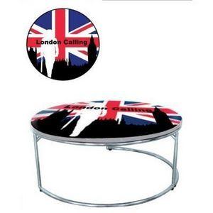International Design - table basse london - Runder Couchtisch