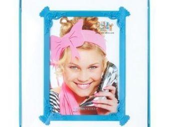 Present Time - cadre photo passepartout - couleur - bleu - Fotorahmen