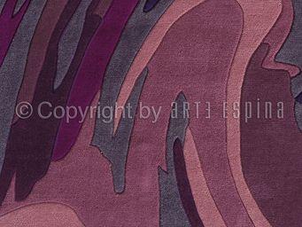 Arte Espina - tapis de salon action painting violet 170x240 en a - Moderner Teppich