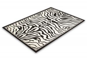 NAZAR - tapis contempo 80x150 black-white - Moderner Teppich