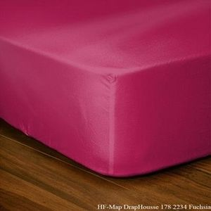 FASHION HOME - drap housse 140 x 190 cm groseille - Spannbettlaken