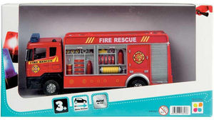 WDK Groupe Partner - camion pompier en métal 21x5x12cm - Modellauto