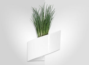 GREEN TURN - jardinière murale blanche modul'green 1 module 22 - Wand Blumenkasten