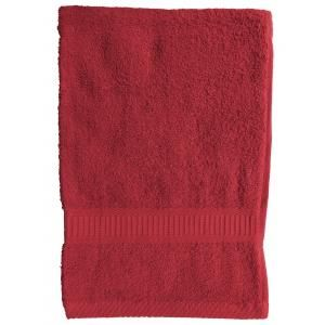 TODAY - serviette de toilette 50 x 90 cm - couleur - rouge - Handtuch