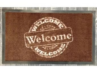 ILIAS - paillasson welcome welcome marron - Fussmatte