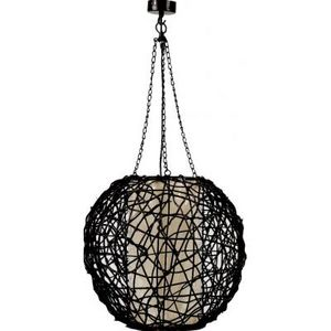 AUBRY GASPARD - lampe boule en rotin - Deckenlampe Hängelampe