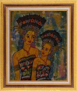 LIGHT MY ART - « soeurs » © par prabowo - Leuchtende Gemälde