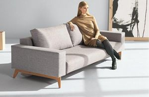 INNOVATION - idun canapé design gris convertible lit 200*140 cm - Bettsofa