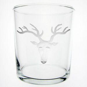Au Bain Marie - verre droit haut tête de cerf - Glas