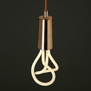 PLUMEN - plumen - suspension cuivre et ampoule original 001 - Deckenlampe Hängelampe