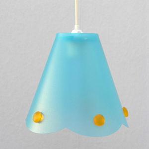 Rosemonde et michel  COUDERT - julie perles - suspension bleu h21cm | lustre et p - Kinder Hängelampe