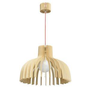 REGENBOGEN - suspension en bois naturel demi-sphère - Deckenlampe Hängelampe