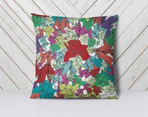 la Magie dans l'Image - coussin fleurs - Kissen Quadratisch