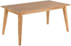 ZAGO - table à manger en teck sablé avec allonge java - Rechteckiger Esstisch