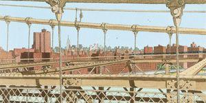 Nouvelles Images - affiche brooklyn bridge - Plakat