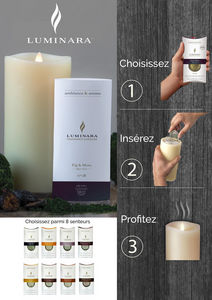 SMART CANDLE FRANCE - luminara fragrance - Duftkerze