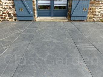 CLASSGARDEN - terrasse de 30 m² en dalles sciée de 80x80 - Bodenplatten Außenbereich