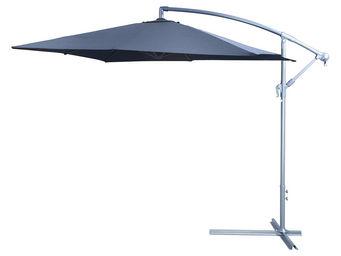 CEMONJARDIN - parasol déporté 250 x 250 anthracite - Ampelschirm