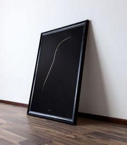 THE THIN GOLD LINE - the dark side - Zeitgenössische Gemälde