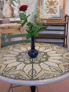 Sienna Mosaica - guéridon - Tischplatte