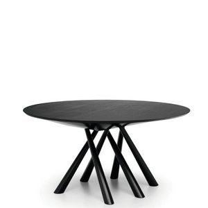 Midj - forest - table ronde en chêne laqué noir ø 150 cm - Runder Esstisch