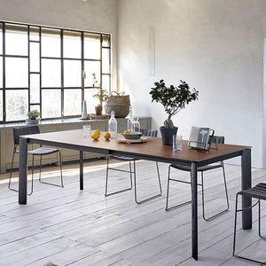 Midj - blade xl - table extensible frêne noir et plateau - Ausziehtisch