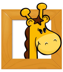 DECOLOOPIO - tableau girafe - Kinderklebdekor