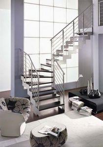 NOVALINEA - laser satin - Viertelgewendelte Treppe