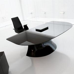 ITALY DREAM DESIGN - ola-black. designer mario mazzer - Direktionsschreibtisch