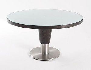 Abode Interiors - round glass dining table - Runder Couchtisch