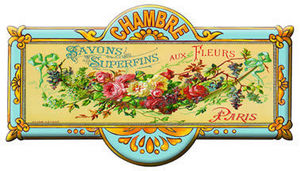 Cartexpo - superfins aux fleurs - Kindertürschild