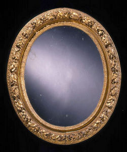 ARNOLD WIGGINS & SONS - miroir du xviiième en bois sculpté doré - Spiegel