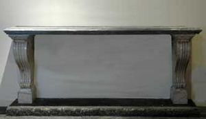 GALERIE MARC MAISON - marble console - Konsolentisch