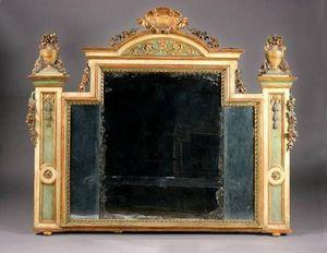Galerie Charles Sakr - miroir en bois sculpté - Trumeauspiegel