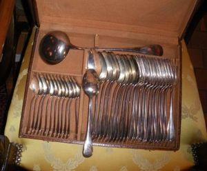 Art & Antiques - coffret ménagère en métal argenté - Besteckkasten