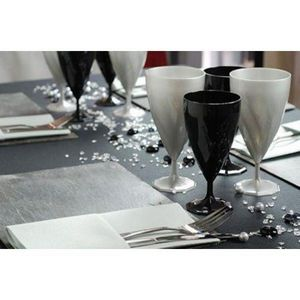Adiserve - verre à vin par 12, 11 coloris nacrés - Einwegglas