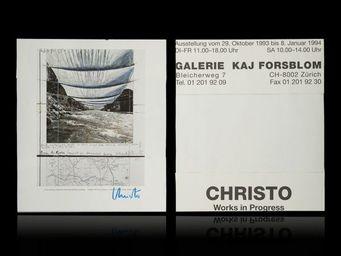 Expertissim - christo. work in progress, affiche offset - Plakat