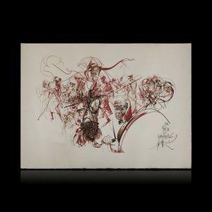 Expertissim - d'après raymond moretti. jazzmen. estampe - Kunstdruck