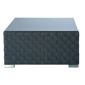 Maisons du monde - table basse anthracite square garden - Garten Couchtisch