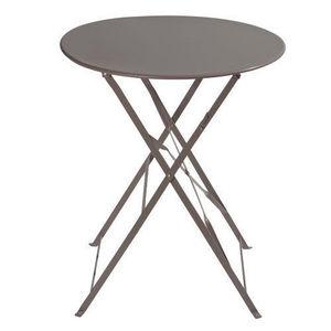 MAISONS DU MONDE - table taupe confetti - Rundes Gartentisch