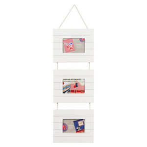 Maisons du monde - cadre triple blanc bois latte - Dreifachrahmen