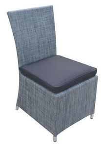 TRAUM GARTEN - chaise de jardin en textilène gris anthracite avec - Gartenstuhl