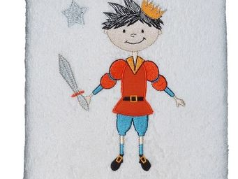 SIRETEX - SENSEI - serviette 50x90 brodé 500 gr/m² prince eliot - Kinder Handtuch