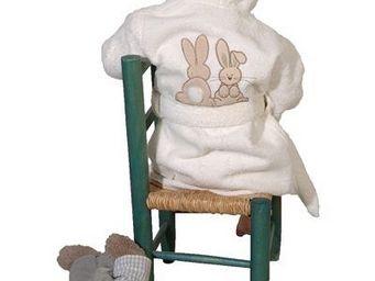 SIRETEX - SENSEI - peignoir enfant brodé pompon le lapin - Kinderbademantel