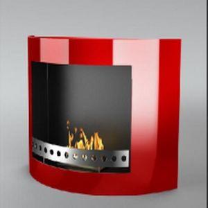 WHITE LABEL - chemine thanol killy rouge - Kamin Ohne Rauchabzug
