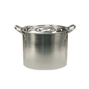 WHITE LABEL - marmite traiteur tout inox avec couvercle - Suppentopf