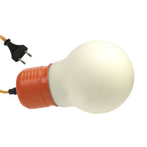 WHITE LABEL - lampe à poser forme grosse ampoule avec douille et - Leuchtobjekt