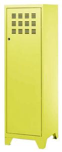 PHSA - armoire 1 porte en métal anis 40x40x134cm - Kleiderschrank