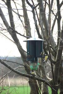 BEST FOR BIRDS - distributeur de nourriture triangle en métal 21x55 - Vogelfutterkrippe