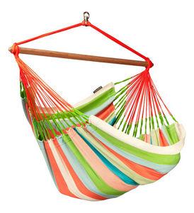 La Siesta - chaise hamac lounger domingo corail en coton et po - Sitzhängematte